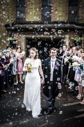 Bubbles Wedding Send-Off Ideas