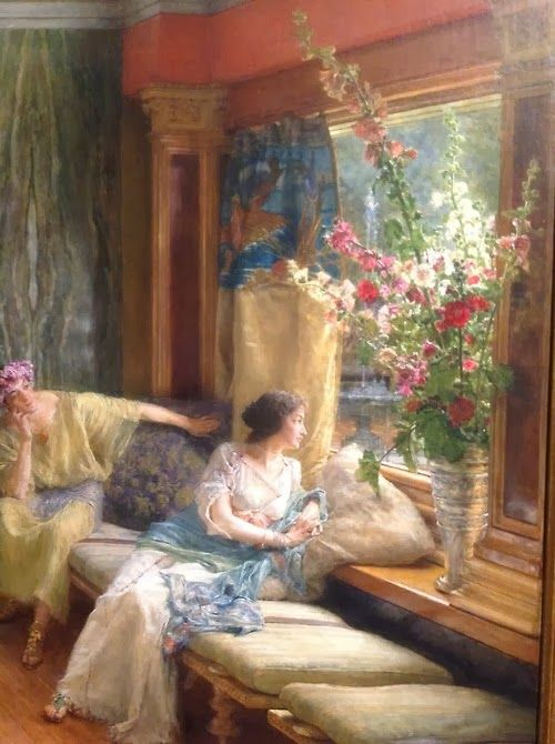 ⊰ Posing with Posies ⊱ paintings & illustrations of women & children with flowers - Lawrence Alma-Tadema