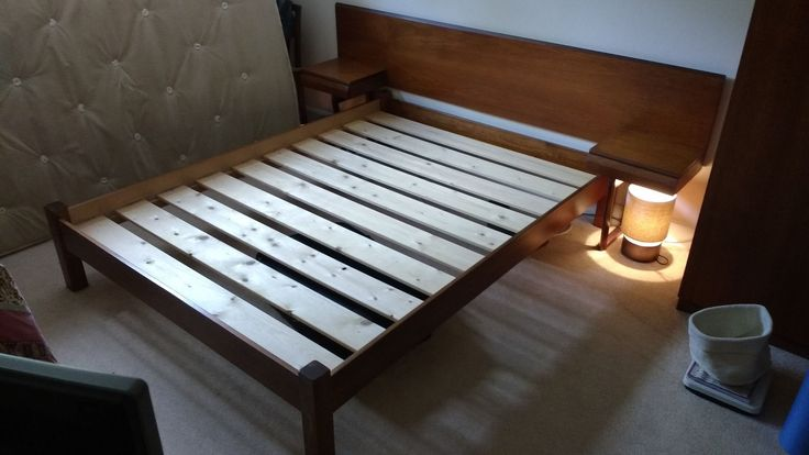 Stylish Headboard & bedside tables KINGSIZE Teak - Midcentury GPlan 1960s in Home, Furniture & DIY, Furniture, Beds & Mattresses | eBay