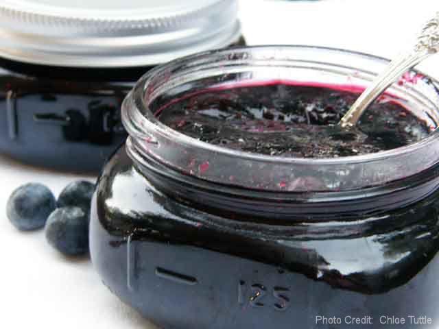 Blueberry Jam!  Recipe makes 10 half pints.