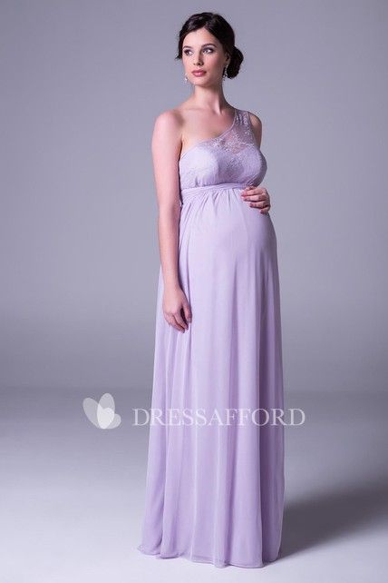 396cd208097fa Shop One-shoulder Chiffon Empire long Maternity Dress With Lace And Illusion  Online. Dress Afford offers tons of high quality collections at affordable  ...