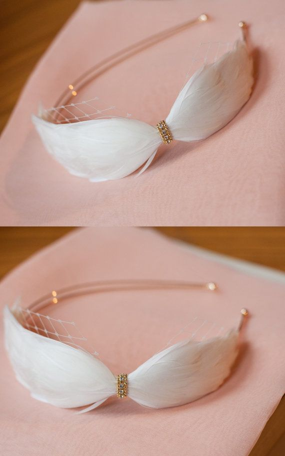 Wedding Hair Accessories / Vintage feather headband by TheWeddie, €70.00