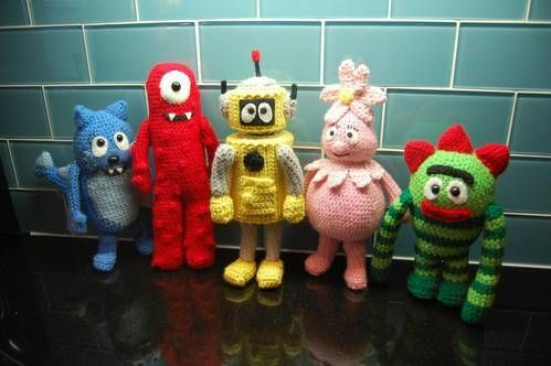 Love these!: Allison Hoffman, Crafts Ideas, Knits Crochet, Yo Gabba Gabba, Gabba Amigurumi, Monsters, Crochet Patterns, Crochet Knits, Amigurumi Patterns