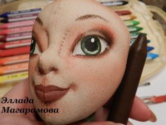 Painting and toning face of cloth dolls