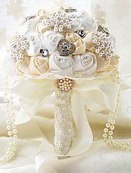 Hochzeitsblumen Rundförmig Rosen Sträuße Hochzeit Partei / Abend Polyester Satin Taft Spitzen Spandex Perlen Schaumstoff Strass