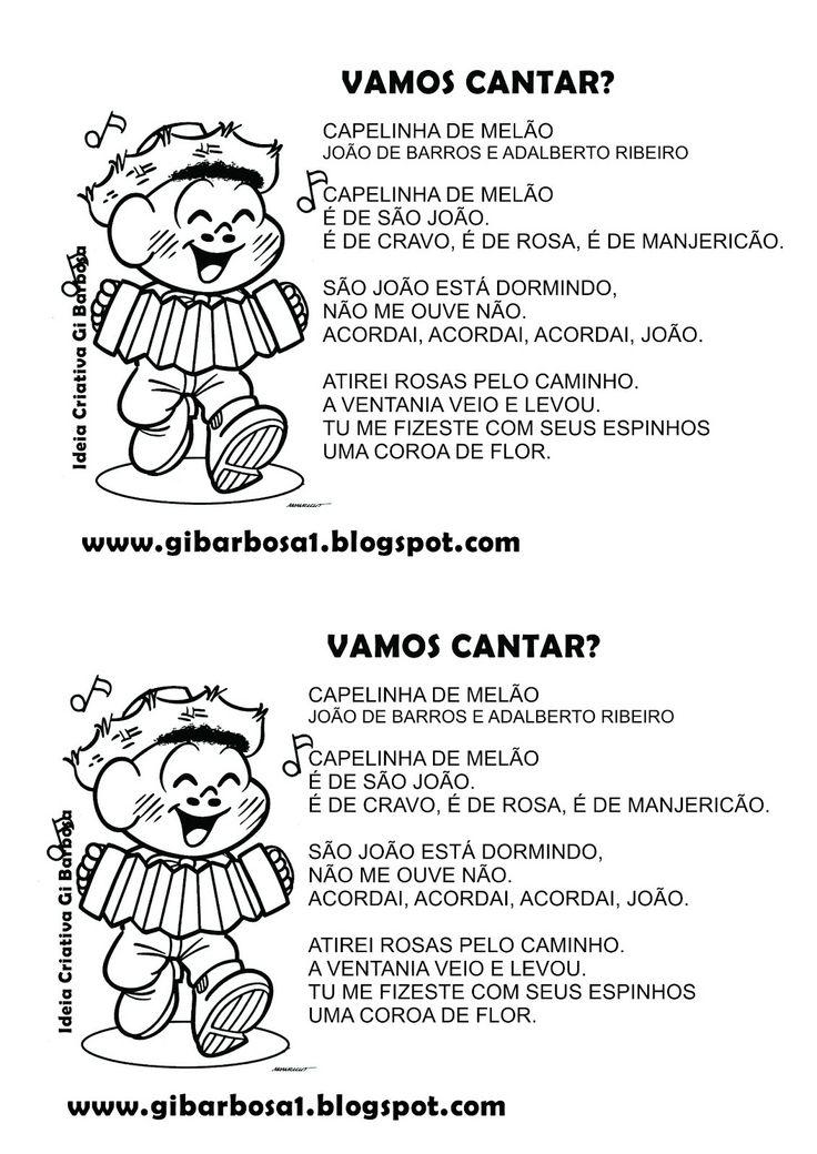 Ideia Criativa - Gi Barbosa Educação Infantil: Músicas Ilustradas Festas Juninas para Colorir