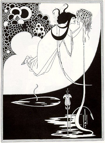 Aubrey Beardsley 'Salome'. Nice association with Oscar Wilde. And so Goth to die of TB aged 28!:
