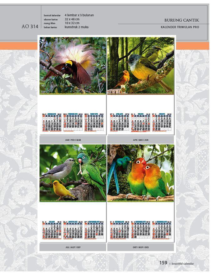 Kalender 2015 AO - Triwulan 3 Bulanan - Free Download Jpg Thumbnails Quality Preview - Tema Foto Gambar Burung Cantik