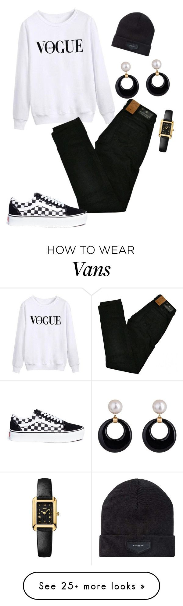 """100109 SAH"" by mil0000000000000 on Polyvore featuring Maison Scotch, Vans, Givenchy and Fendi"