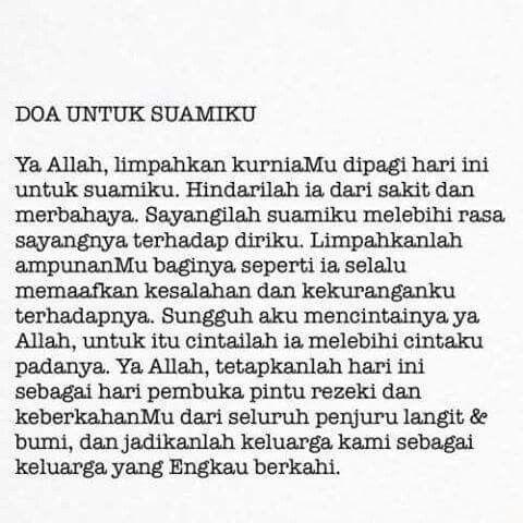 Doa untuk suamiku