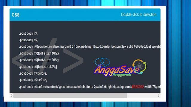 Cara Membuat Syntax Highlighter/kotak script di blog keren seperti arlinadesign