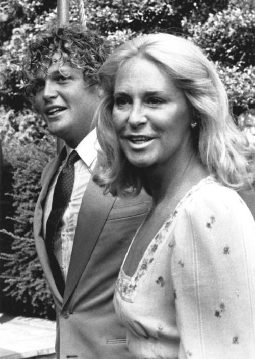 *TED KENNEDY JR. & JOAN KENNEDY ~ arrive at Our Lady of Victory Church in Centerville, MA, on September 17, 1983, for the wedding of the former Sydney Kennedy Lawford to Peter McKelvy.