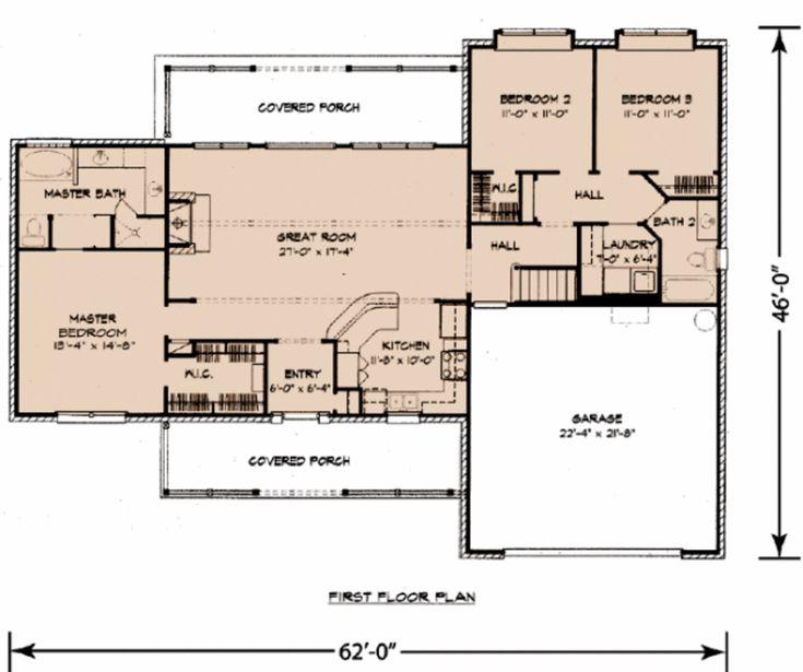 Best 31 floor plans under 1600 sq ft images on pinterest for Best house plans for 1600 sq ft