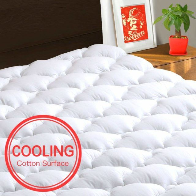 """LEISURE TOWN Queen Overfilled Mattress Pad Cover ❤️8-21""""Deep Pocket❤️Cooling"""