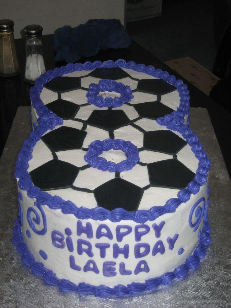 Soccor Themed Number 8 Cake Cake Ideas Pinterest