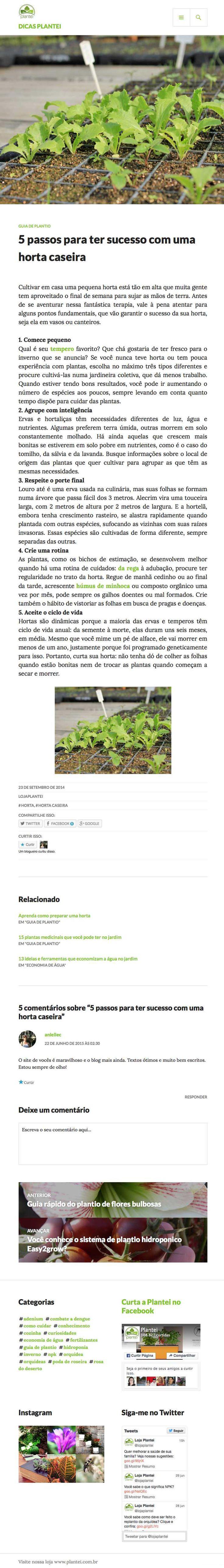 Plantei blog institucional visto em ipad. #blog #empresa #institucional #conteudorelevante