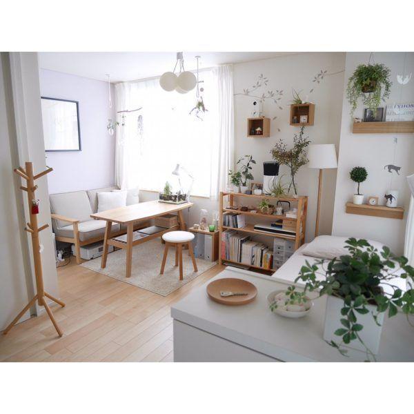 Studio Apartment Design & Decoration Ideas with The Advantages - 「6畳〜」1K・ワンルームインテリアレイアウト22選♫狭くっても心配なし! | folk
