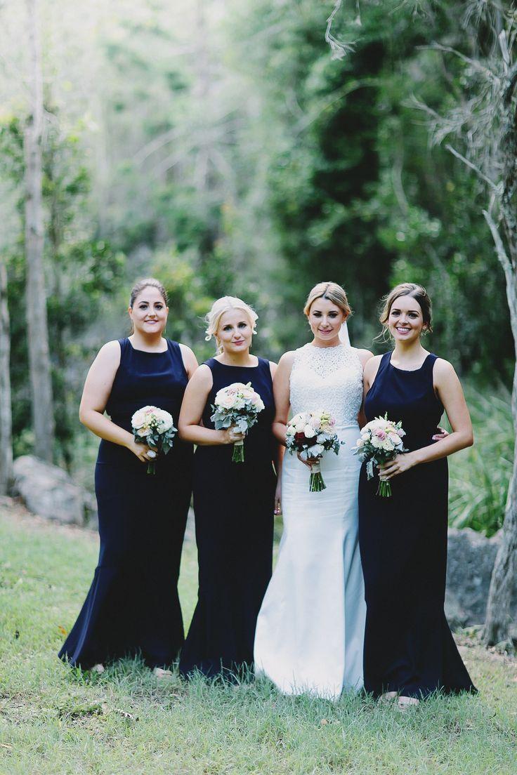 Wedding. Ivory. Red. Navy. Blush. Peach. Classic. Romantic. Vintage. Bride. Bridesmaids. Photography by Juddric Photography www.summerdean.com.au