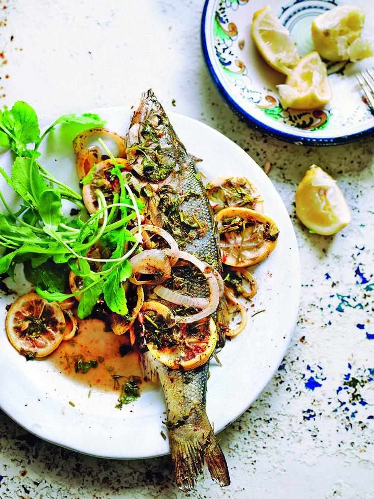 A classic turkish seabass recipe given a modern twist for Turkish sea bass recipe