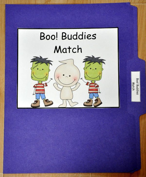 buddies match file folder game is a halloween themed matching activity - Halloween File Folder Games