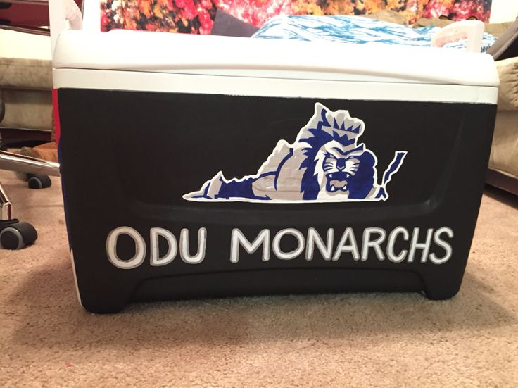 Old dominion university Virginia painted cooler