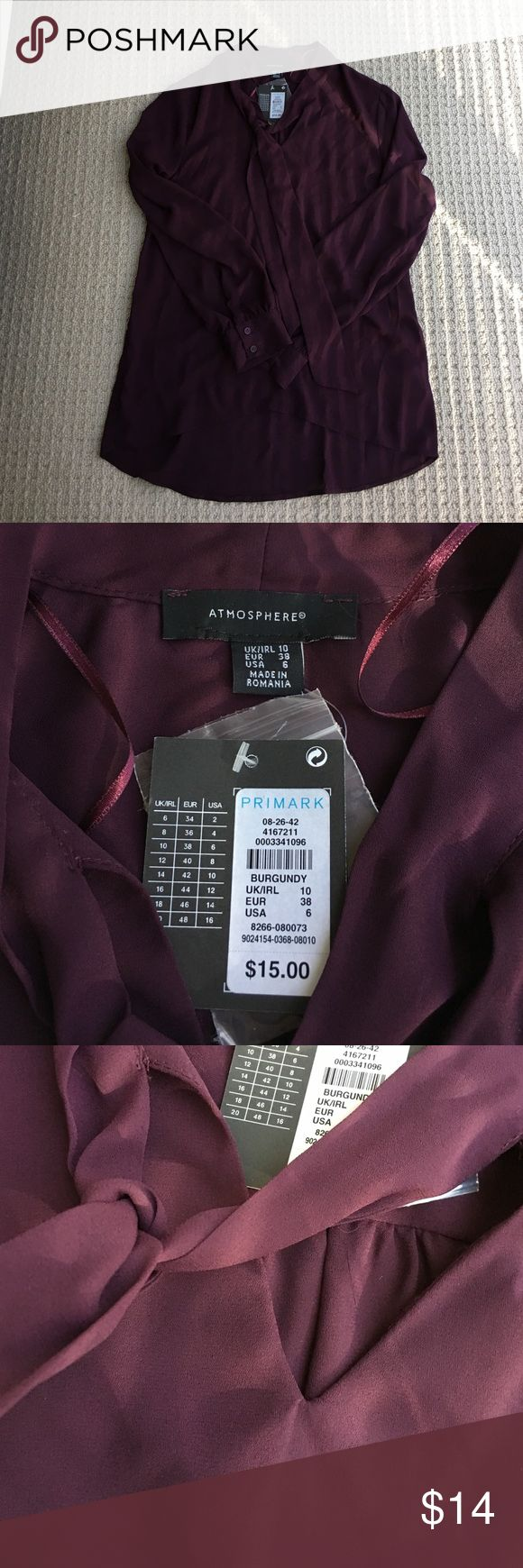Primark Atmosphere Purple Blouse NWT Primark Tops Blouses