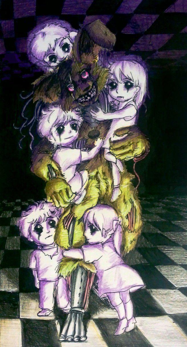 My sweet Fetters / Springtrap and children FNaF by Mizuki-T-A.deviantart.com on @DeviantArt