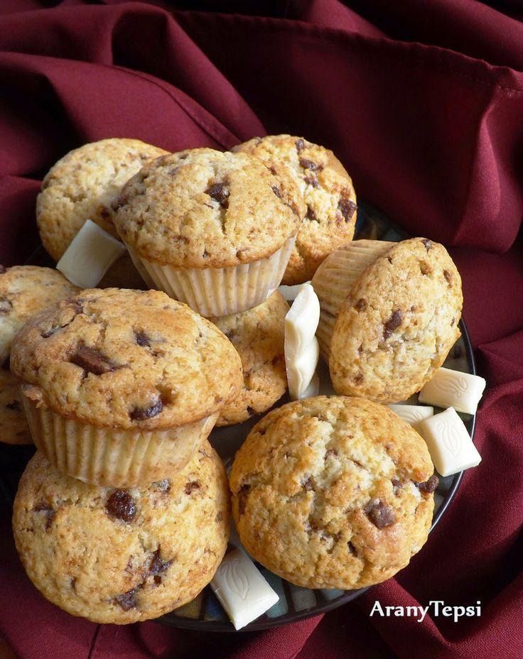 Egyszerű tejcsokis muffin