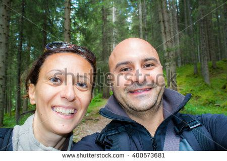 #selfportait #happy #couple #woods #vacation #happiness #outdoor #nature #you&me #love #loving #man&woman #young