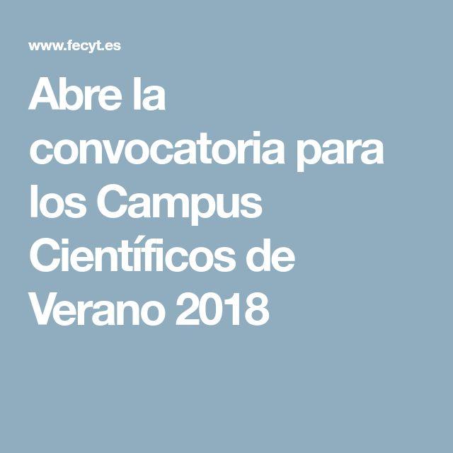 Abre la convocatoria para los Campus Científicos de Verano 2018