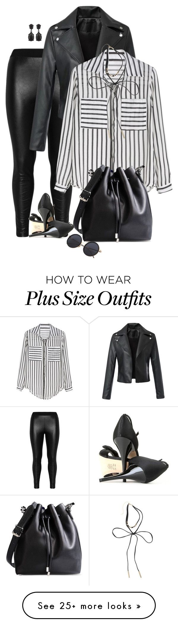 """Untitled #7205"" by lisa-holt on Polyvore featuring Zizzi, Proenza Schouler and Kenneth Jay Lane"