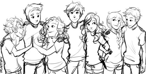 The Seven Halfbloods~ Leo Valdez, Frank Zhang, Hazel Levesque, Percy Jackson, Annabeth Chase, Piper McLean, Jason Grace