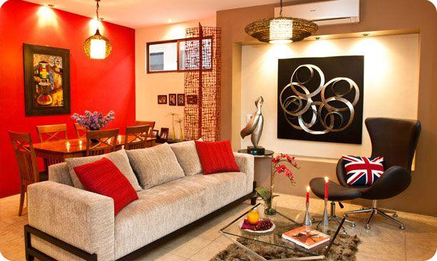 Verde y naranja diseno y decoracion de interiores - Decoracion naranja ...