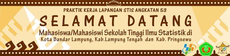 Spanduk Selamat Datang PKL 53 di Lampung, via corel