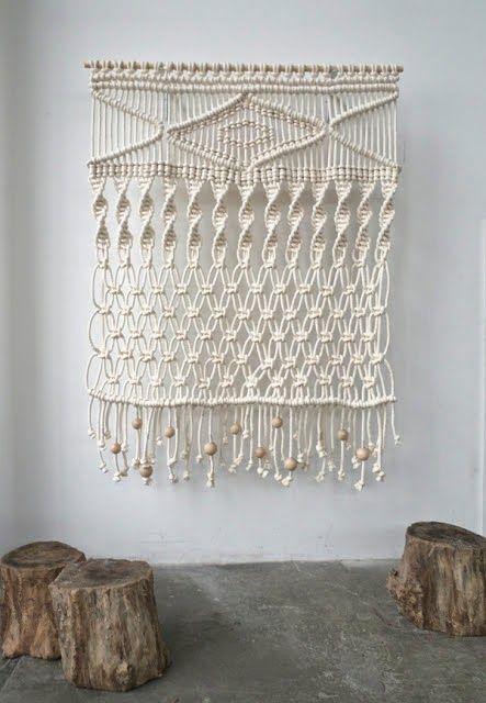 M s de 25 ideas incre bles sobre tapices de macram en - Tapices de macrame ...