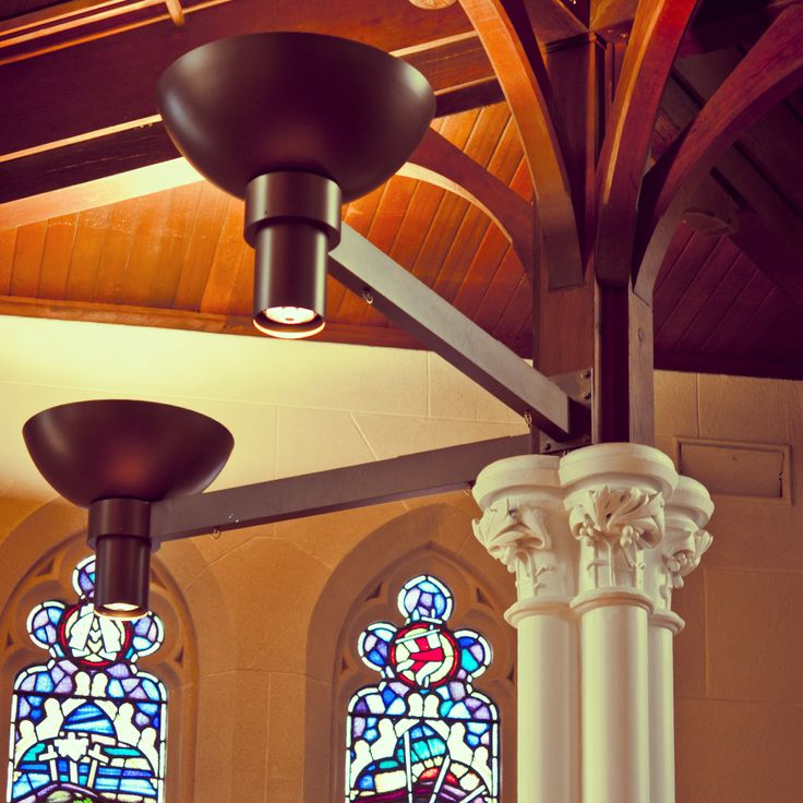 Ambience Lighting's sensitivity to site and user engagement in achieving this custom project for St David's of Canterbury is one that sets a bench mark for liturgical design.Custom uplight and downlight was created to achieve a warm and welcoming atmosphere and an elegant form that replicates existing shapes within the historic building.To complete the project the custom lamps were finished with a custom Porter's Paints Liquid Gold in 'Ambience Bronze'! www.porterspaints.com