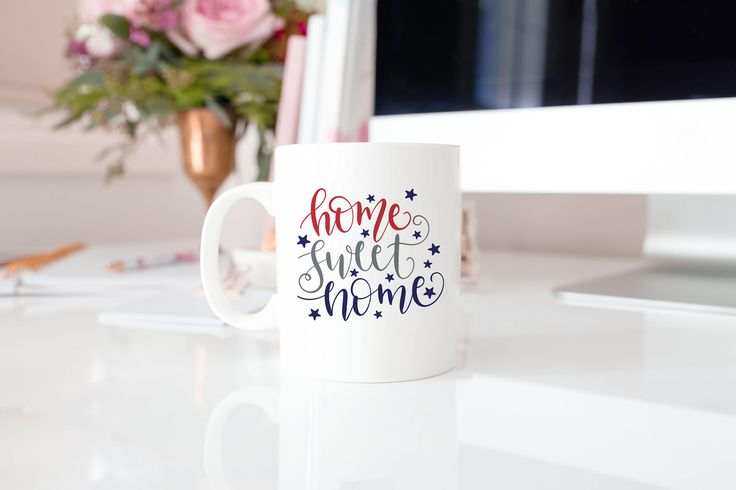 Home Sweet Home Coffee Mug, Red White and Blue Coffee Mug, 4th of July Decor, Independence Day, Coffee Lover, Gift for Her by SweetBerryGifts on Etsy https://www.etsy.com/listing/541394755/home-sweet-home-coffee-mug-red-white-and