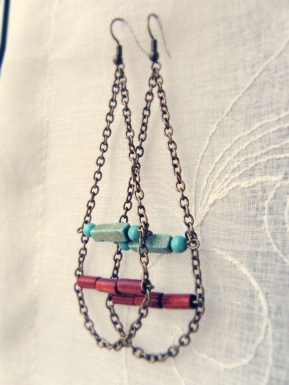 Comment faire des boucles d 39 oreilles pendantes en chaine - Comment fabriquer un porte boucle d oreille ...