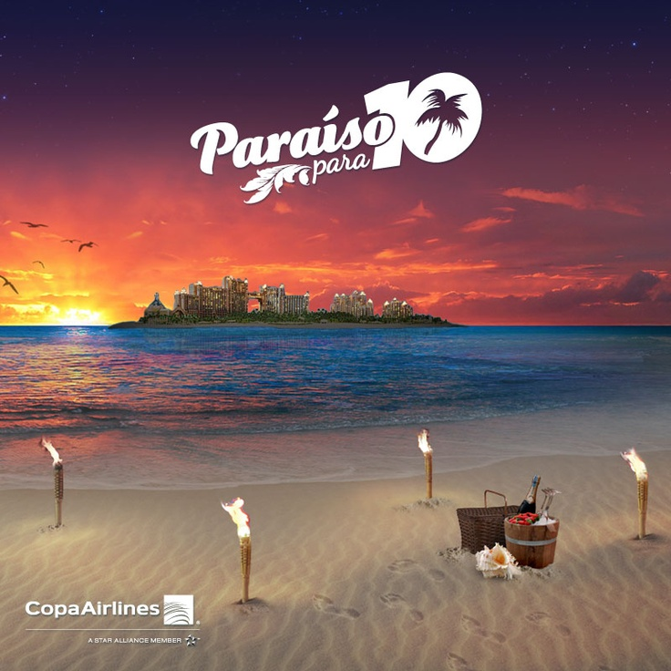 Te invito a viajar conmigo al paraíso. Participa y podrías ganar un viaje para 10 personas con @copaairlines a Nassau, Bahamas GRATIS. #ParaisoCopa
