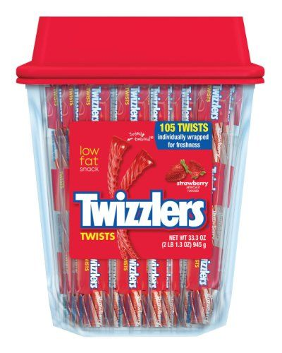 TWIZZLERS Twists (Strawberry 105-Count) (Halloween Candy)