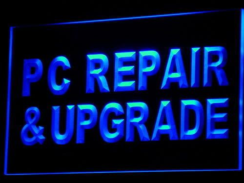 PC Repair & Upgrade Computer NEW Neon Light Sign