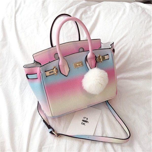 "Sweet gradient rainbow bag  Coupon code ""cutekawaii"" for 10% off"