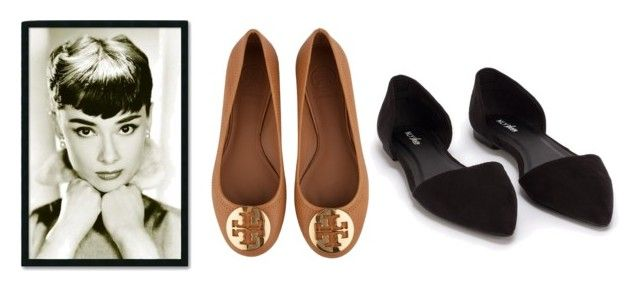 """baletki"" by izabelamisztal on Polyvore featuring moda, Tory Burch, Nly Shoes i Amanti Art"