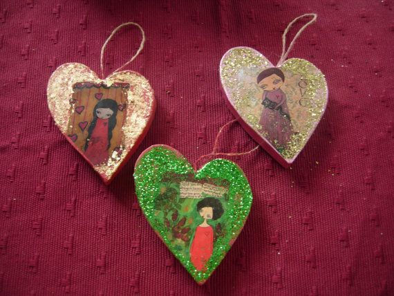 To Love and Be Loved Christmas and Valentine's papier by eltsamp, $35.00