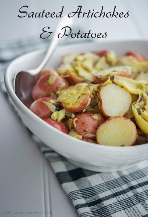 Sauteed Artichokes & Potatoes | Carrie's Experimental Kitchen # ...