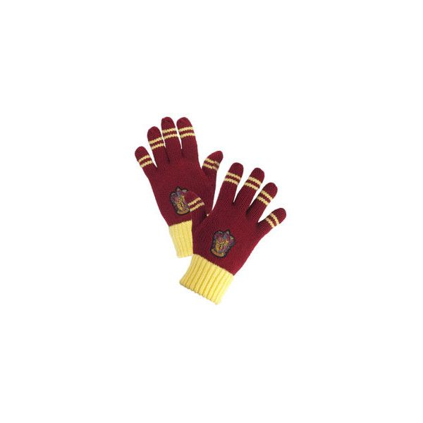 Gryffindor Striped Gloves ($20) ❤ liked on Polyvore featuring accessories, gloves, harry potter, hogwarts and striped gloves