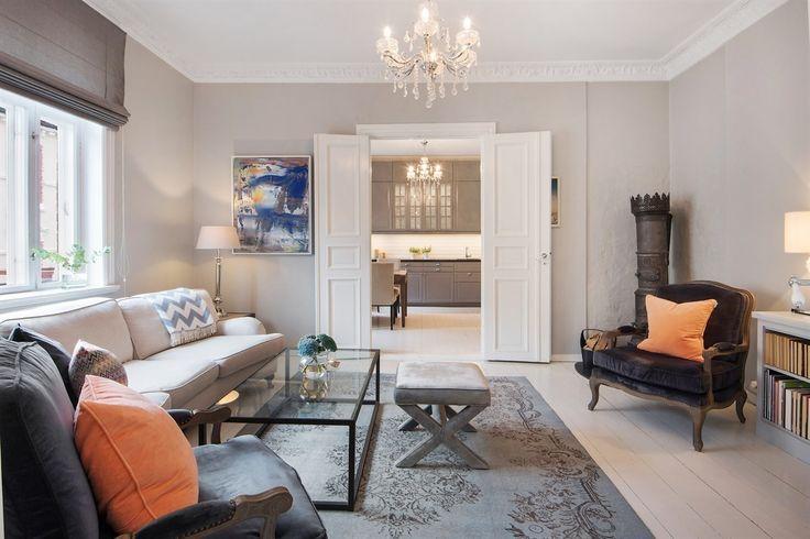 FINN – FAGERBORG/MAJORSTUEN - Påkostet, stor og særdeles flott 3(4)-roms leilighet med 2 balkonger, 2 ildsteder, moderne kjøkken, lekkert bad og vakre, originale detaljer.