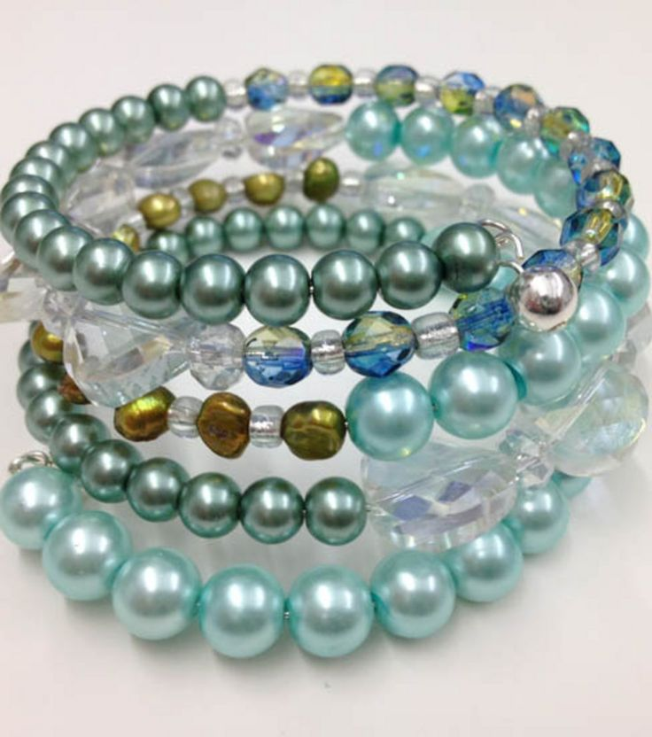 Gather beads & memory wire to make this fun bracelet ...