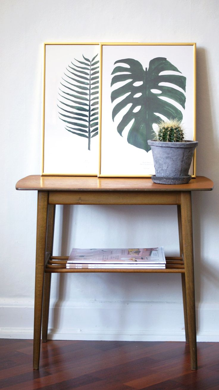 Our Monstera and Cocos plant prints  picture by: Julie Mænnchen