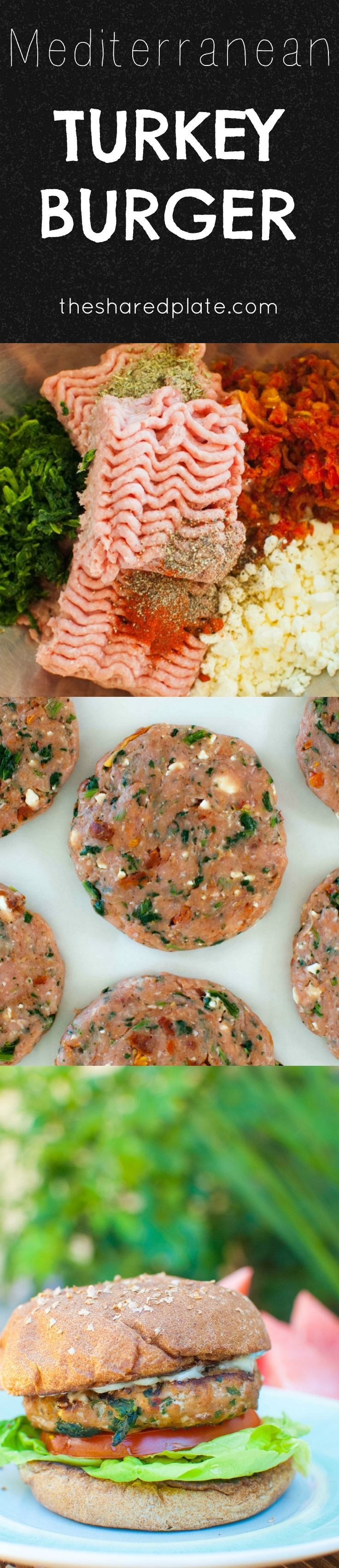 ... Turkey Burgers are feta crumbles, morsels of sun-dried tomato, and